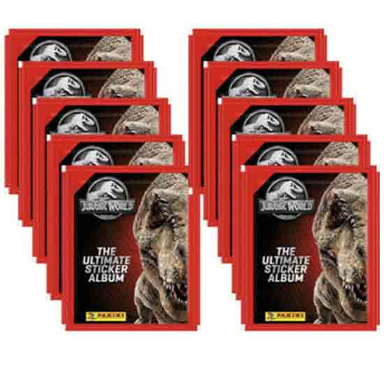 Panini Jurassic World Sticker 10 Stickertüten