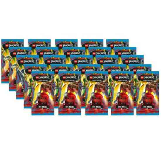 """Lego Ninjago Serie 6 """"Die Insel"""" Trading Card Game 25 x Booster"""