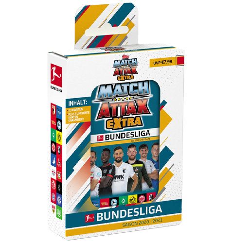 Topps Match Attax EXTRA 2020/21 - Mini-Tin Blau