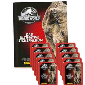 Panini Jurassic World Sticker Leeralbum + 10 Tüten