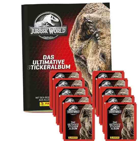 Panini Jurassic World Sticker Leeralbum + 10 Tüten