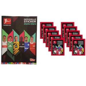 Topps Bundesliga Sticker Leeralbum + 10 Tüten