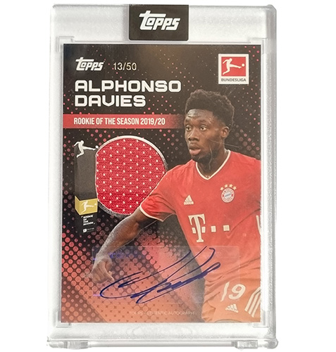Topps Alphonso Davies Rookie of the Year 2019-20 Autogramm 13/50