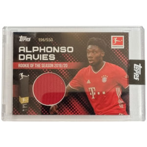 Topps Alphonso Davies Rookie of the Year Trikot Karte 196