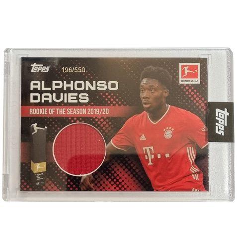 Topps Alphonso Davies Rookie of the Year Trikot Karte 196