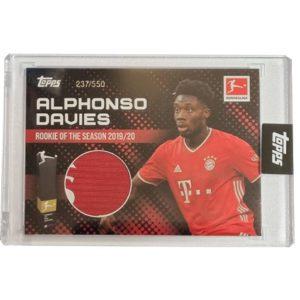 Topps Alphonso Davies Rookie of the Year Trikot Karte 237