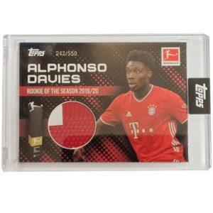 Topps Alphonso Davies Rookie of the Year Trikot 242