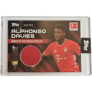 Topps Alphonso Davies Rookie of the Year Trikot Karte 56