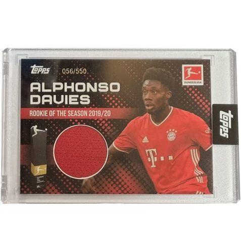 Topps Alphonso Davies Rookie of the Year Trikot Karte 56