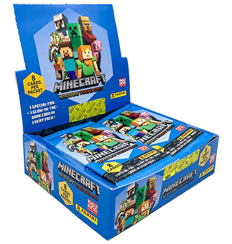 Panini Minecraft Adventure Trading Card Game Display