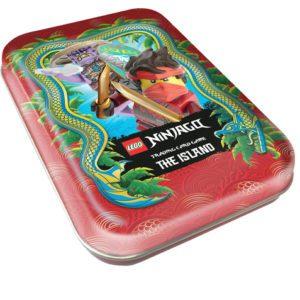 "Lego Ninjago Serie 6 ""Die Insel"" Trading Card Game Mini Tin Rot"