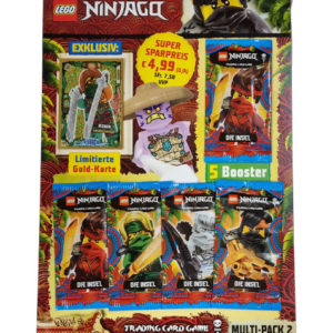 "Lego Ninjago Serie 6 ""Die Insel"" Trading Card Game Multipack 2 mit LE18 Ronin"