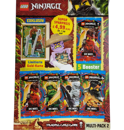 """Lego Ninjago Serie 6 """"Die Insel"""" Trading Card Game Multipack 2 mit LE18 Ronin"""