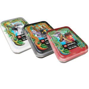 "Lego Ninjago Serie 6 ""Die Insel"" Trading Card Game alle 3 Mini Tin´s"