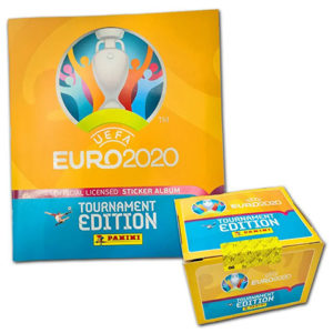 Panini EURO 2020 Tournament Edition Sticker - 1x Stickeralbum + 1x Display je 100 Stickertüten