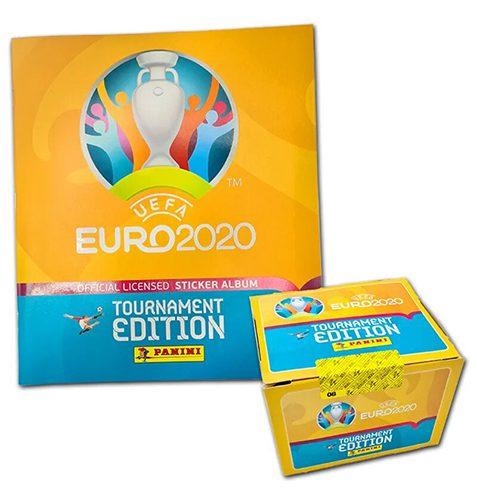 Panini EURO 2020 Tournament Edition Sticker - 1x Stickeralbum + 1x Display je 100 Stickertüten