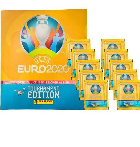 Panini EURO 2020 Sticker Tournament - Album + 10x Tüten