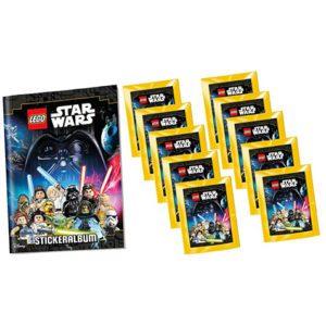 Lego Star Wars Sticker Album + 10 Stickertüten
