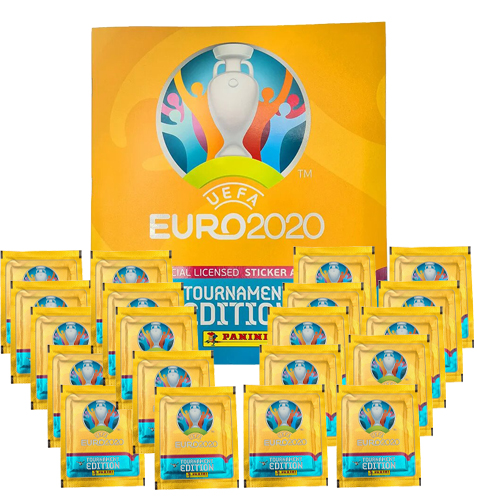 Panini EURO 2020 Sticker Tournament - Album + 20x Tüten