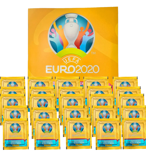 Panini EURO 2020 Sticker Tournament - Album + 25x Tüten