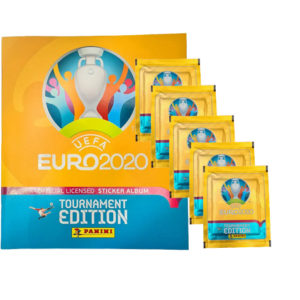 Panini EURO 2020 Sticker Tournament Edition - Album + 5 Stickertüten