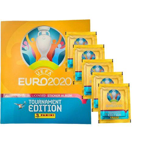 Panini EURO 2020 Sticker Tournament Edition - Album + 5 Stickertüten