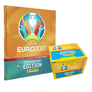 Panini EURO 2020 Tournament Edition Sticker - 1x Hardcover Album + 1x Display je 100 Stickertüten