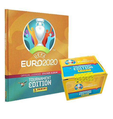 Panini EURO 2020 Tournament Edition Sticker - 1x Hardcover Album + 1x Display je 100 Stickertüten