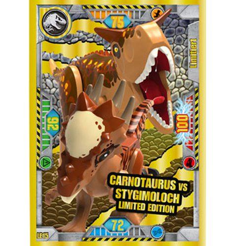 Lego Jurassic World LE15 Carnotaurus vs Stygimoloch