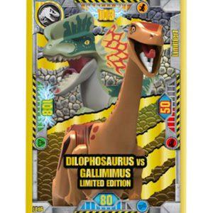 Lego Jurassic World LE16 Dilophosaurus vs Gallimimus