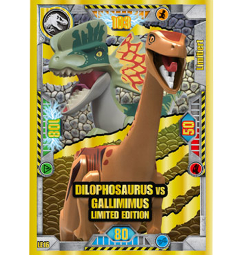 Lego Jurassic World LE16 Dilophosaurus vs Gallimimus