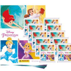 Panini Disney Prinzessin Sticker Glaube an Dich - 1x Leeralbum + 10x Stickertüten
