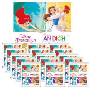 Panini Disney Prinzessin Sticker Glaube an Dich - 1x Leeralbum + 15x Stickertüten