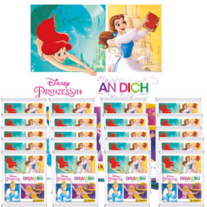 Panini Disney Prinzessin Sticker Glaube an Dich - 1x Leeralbum + 20x Stickertüten