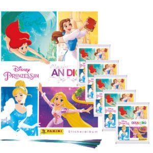 Panini Disney Prinzessin Sticker Glaube an Dich - 1x Leeralbum + 5x Stickertüten