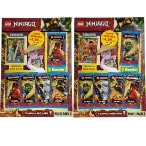"Lego Ninjago Serie 6 Trading Cards ""DIE INSEL"" - 2x Multipack2 mit LE18 & LE21"