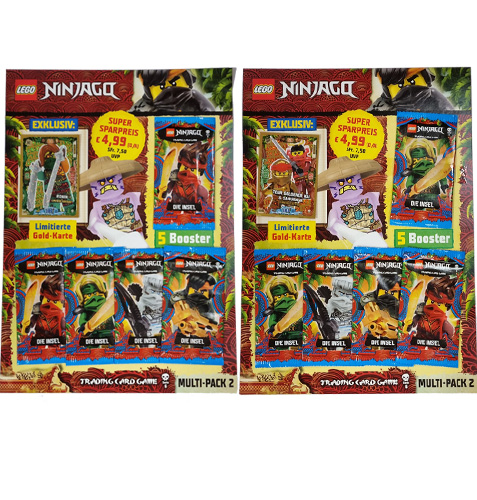 """Lego Ninjago Serie 6 Trading Cards """"DIE INSEL"""" - 2x Multipack2 mit LE18 & LE21"""