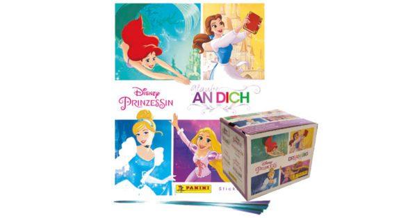 Panini Disney Prinzessin Sticker Glaube an Dich - 1x Leeralbum + 1 Display