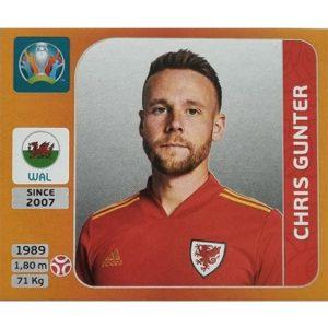 Panini EURO 2020 Sticker Nr 102 Chris Gunter