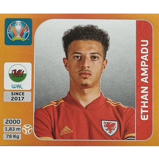Panini EURO 2020 Sticker Nr 109 Ethan Ampadu