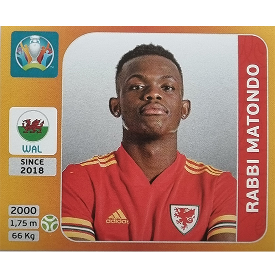 Panini EURO 2020 Sticker Nr 117 Rabbi Matondo