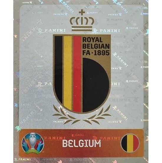 Panini EURO 2020 Sticker Nr 123 Belgium Logo