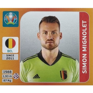 Panini EURO 2020 Sticker Nr 125 Simon Mignolet