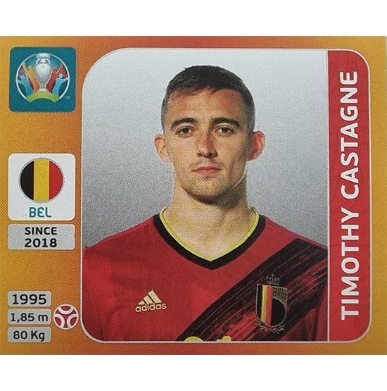 Panini EURO 2020 Sticker Nr 128 Timothy Castagne