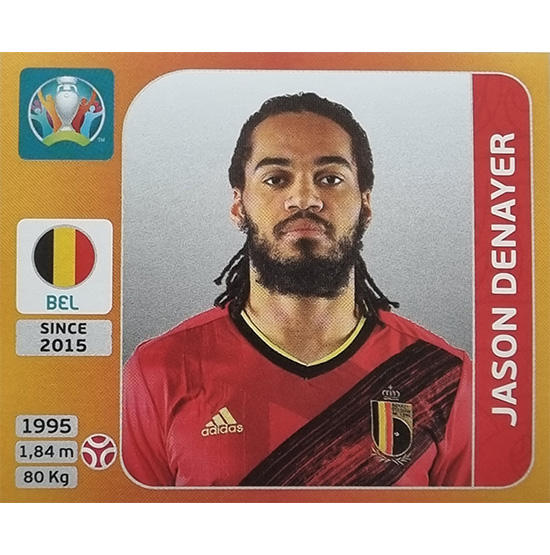 Panini EURO 2020 Sticker Nr 129 Jason Denayer