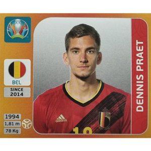 Panini EURO 2020 Sticker Nr 133 Dennis Praet