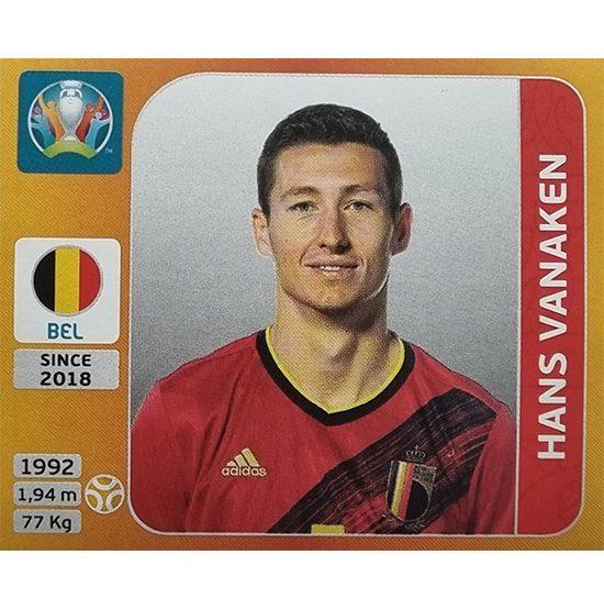 Panini EURO 2020 Sticker Nr 135 Hans Vanaken