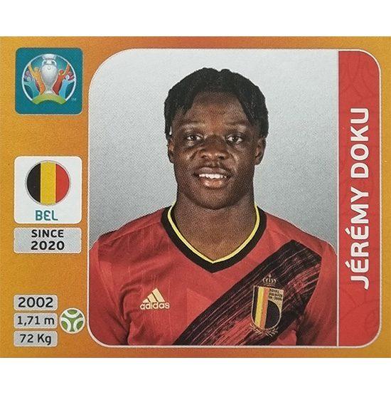 Panini EURO 2020 Sticker Nr 139 Jeremy Doku