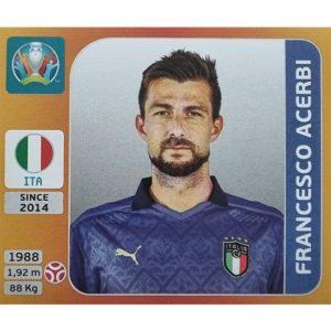 Panini EURO 2020 Sticker Nr 014 Francesco Acerbi
