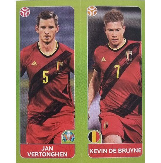 Panini EURO 2020 Sticker Nr 146 Vertonghen De Bruyne